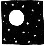 Луна и звёзды