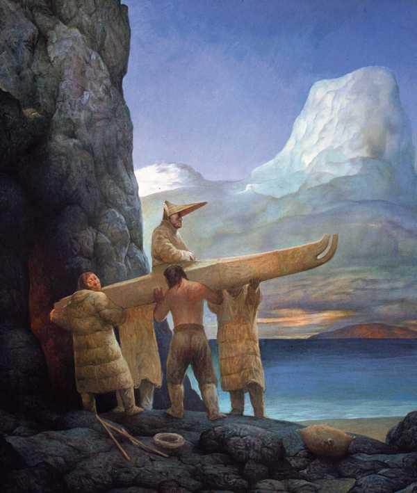 Шаманская живопись Азата Миннекаева - Похороны вождя