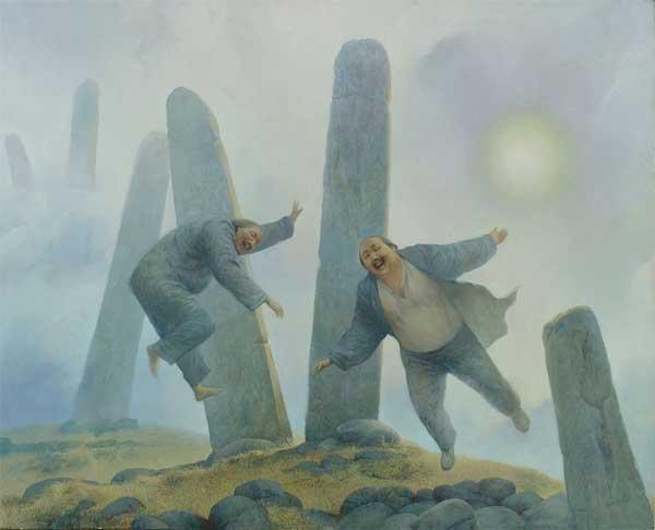Шаманская живопись Азата Миннекаева - Два орла