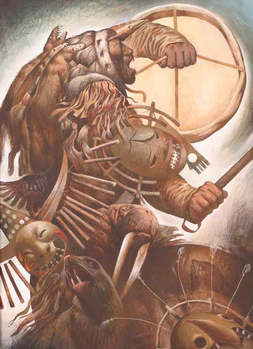 Шаманская живопись Азата Миннекаева - Великий шаман