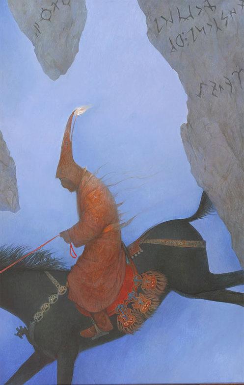 Шаманская живопись Азата Миннекаева - Эрлик - царь другого мира