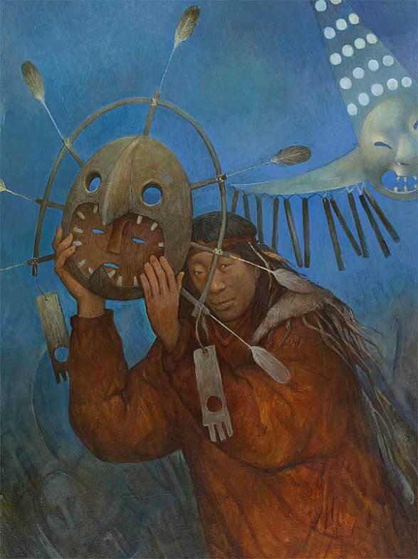 Шаманская живопись Азата Миннекаева - Маска