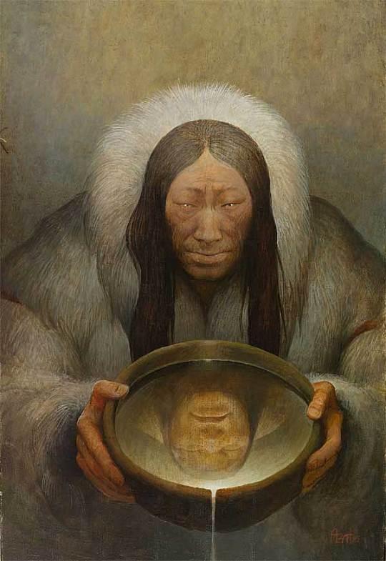 Шаманская живопись Азата Миннекаева - Отражение