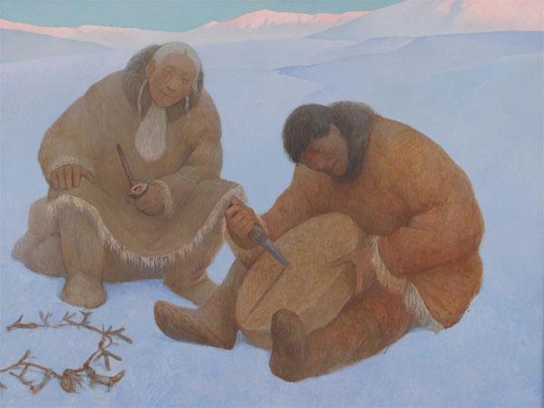 Шаманская живопись Азата Миннекаева - Смерть бубна