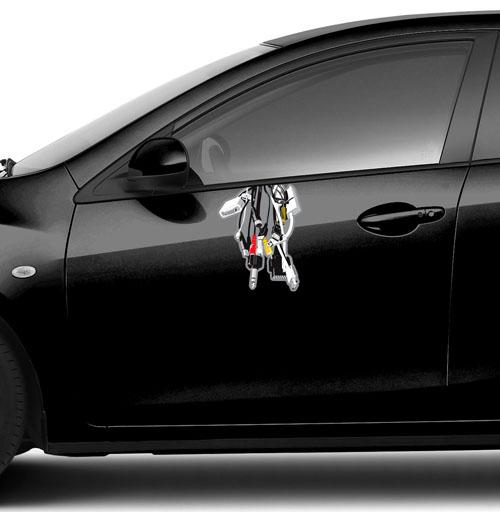 Виниловые наклейки на авто, Башня, FTD, черный, компьютер, джойстик, графика, желтый, электроника
