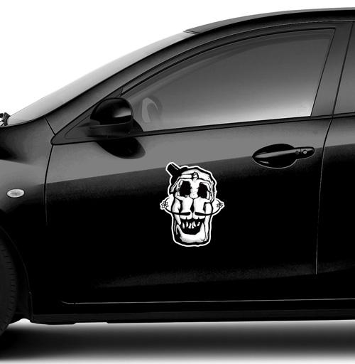 Dali Skull - наклейки на авто