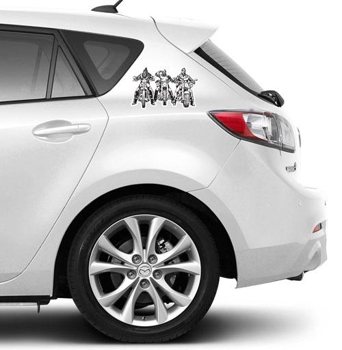 Три богатыря - наклейки на авто