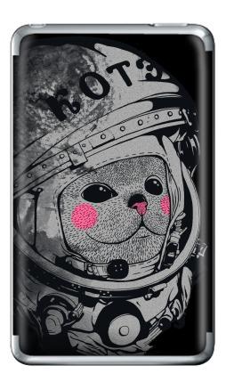 Наклейка на iPod Classic - Котэ-космонафтэ