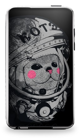 Наклейка на iPod Touch 3 - Котэ-космонафтэ