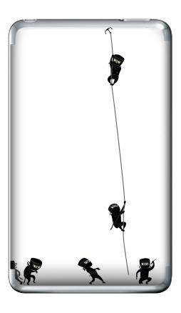 Наклейка на iPod Classic - Ninja