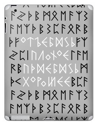 Наклейка на планшеты - iPad 2 / iPad 3 - Руны