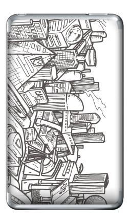 Наклейка на iPod Classic - Город