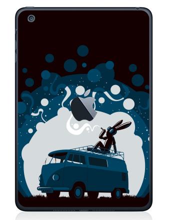 Наклейка на планшеты - iPad Mini c яблоком - Night Scene '11