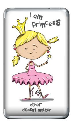 Наклейка на iPod Classic - I'm princess