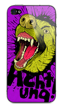 Наклейка на iPhone 4S, 4 - Achtung!