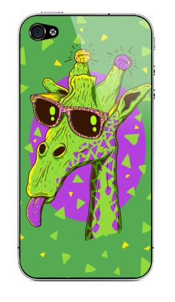 Наклейка на iPhone 4S, 4 - Жирафео
