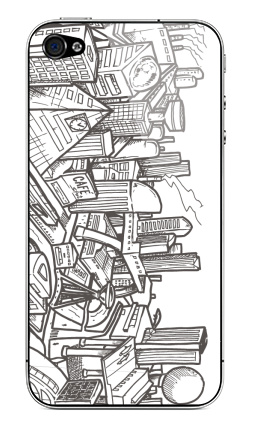 Наклейка на iPhone 4S, 4 - Город