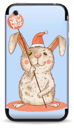 Наклейка на iPhone 3G, 3Gs - Happy NEW year