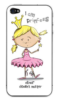 Наклейка на iPhone 4S, 4 - I'm princess