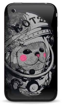 Наклейка на iPhone 3G, 3Gs - Котэ-космонафтэ