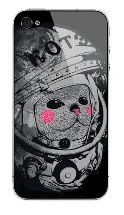 Наклейка на iPhone 4S, 4 - Котэ-космонафтэ