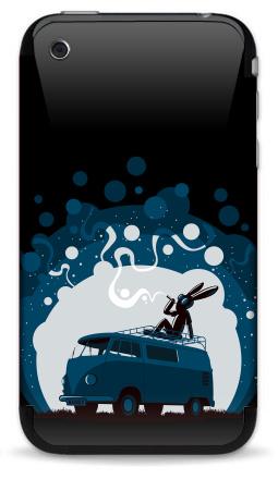 Наклейка на iPhone 3G, 3Gs - Night Scene '11