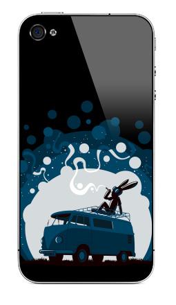 Наклейка на iPhone 4S, 4 - Night Scene '11