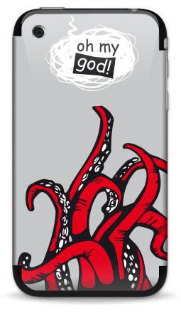 Наклейка на iPhone 3G, 3Gs - Oh my god ? ! ...