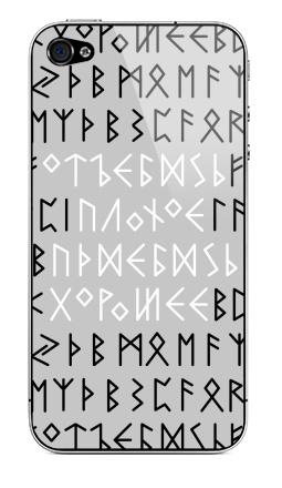 Наклейка на iPhone 4S, 4 - Руны