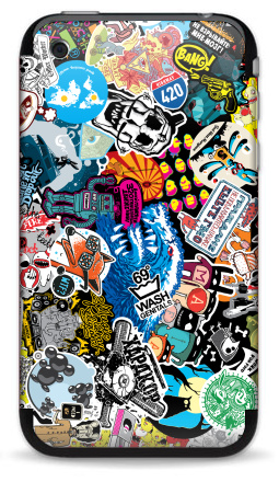 Наклейка на iPhone 3G, 3Gs - Стикербомбинг Stickerbombing