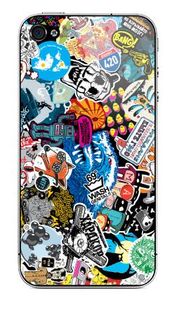 Наклейка на iPhone 4S, 4 - Стикербомбинг Stickerbombing