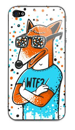 Наклейка на iPhone 4S, 4 - WTF?