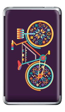 Наклейка на iPod Classic - Hippie Bike