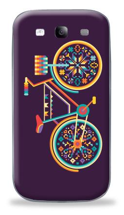 Наклейка на Galaxy S3 (i9300) - Hippie Bike