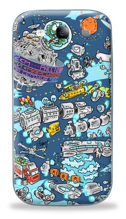 Наклейка на Galaxy S3 (i9300) - Караваны ракет