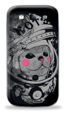 Наклейка на Galaxy S3 (i9300) - Котэ-космонафтэ
