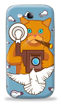 Наклейка на Galaxy S3 (i9300) - Котэ Фотограф