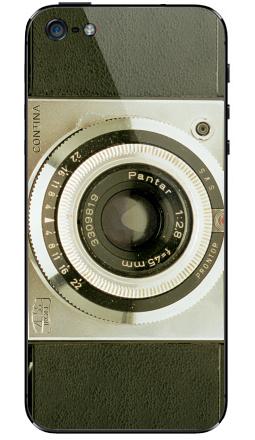 Наклейка на iPhone 5 - Виниловая наклейка на телефон фото camera