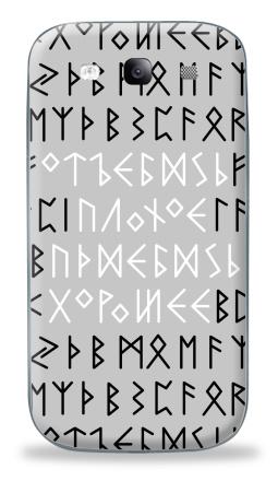 Наклейка на Galaxy S3 (i9300) - Руны