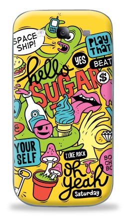 Наклейка на Galaxy S3 (i9300) - Saturday