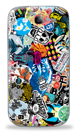 Наклейка на Galaxy S3 (i9300) - Стикербомбинг Stickerbombing