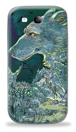 Наклейка на Galaxy S3 (i9300) - Волчок