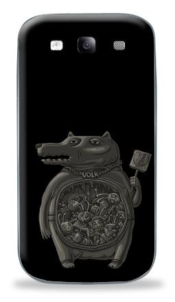 Наклейка на Galaxy S3 (i9300) - Волк
