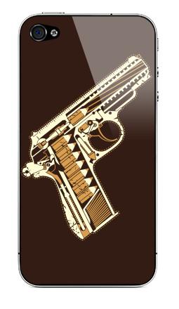 Наклейка на iPhone 4S, 4 - Gun