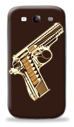 Наклейка на Galaxy S3 (i9300) - Gun