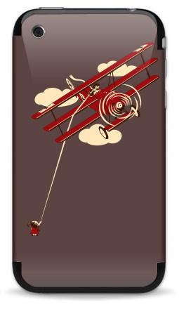 Наклейка на iPhone 3G, 3Gs - Pilot