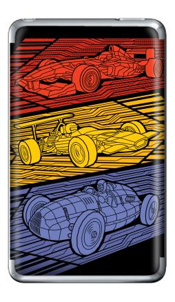 Наклейка на iPod Classic - Grand Prix Legends