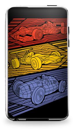 Наклейка на iPod Touch 3 - Grand Prix Legends