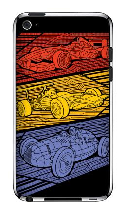 Наклейка на iPod Touch 4 - Grand Prix Legends
