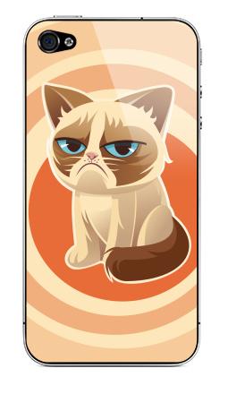 Наклейка на iPhone 4S, 4 - Сурове, грустне, котячне